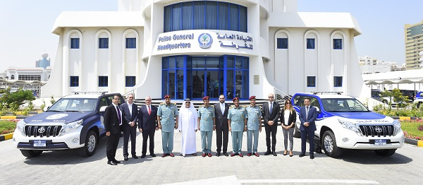 Al-Futtaim Motors also supported Sharjah Police in their plans to drive the UAE Vision 2021's sustainable environment initiatives, by test driving Toyota's zero-emission Fuel Cell technology in the form of the hydrogen-powered Fuel Cell Toyota Mirai.