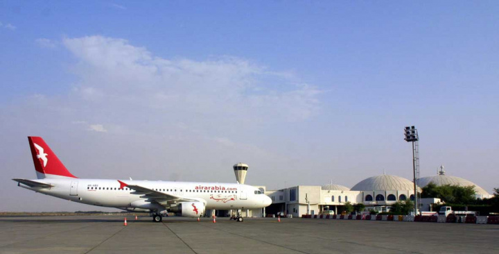 An Air Arabia Airbus 320 sits on tarmac in 2003 at Sharjah International (NASSER YOUNES/AFP/Getty Images).