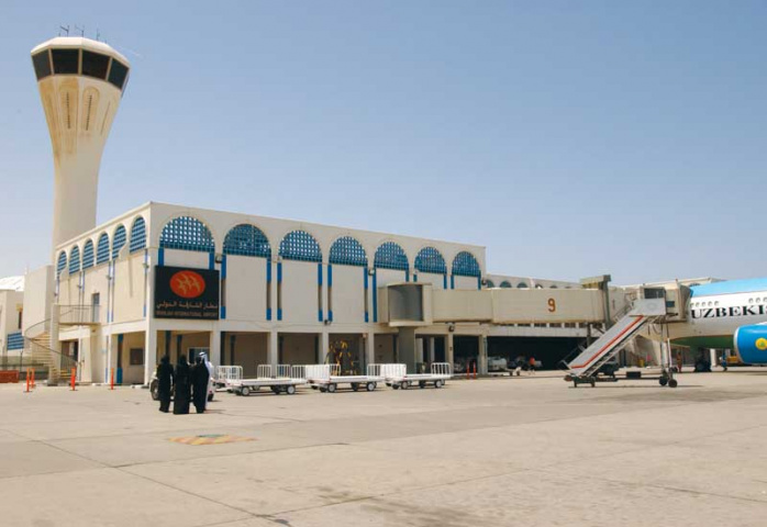 A view of the passenger terminal at Sharjah International Airport.