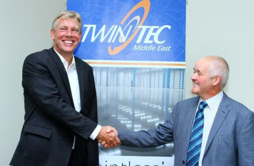 Sohar CEO Andre Toet (left) and Twintec director Tom Menary.