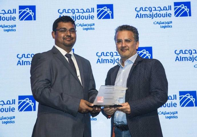 Pishu V. Chainani, president, Swiss Watch Group, collects the award.