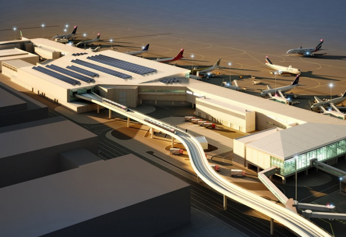 70 international airlines will operate from Concourse D.