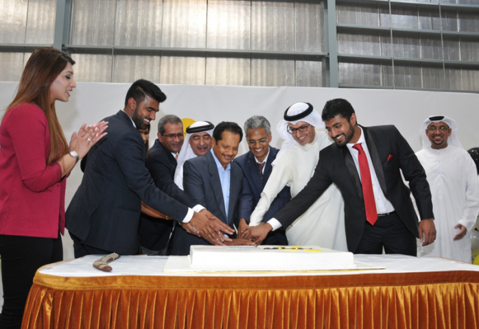 The inauguration ceremony at DWC's Logistics District.