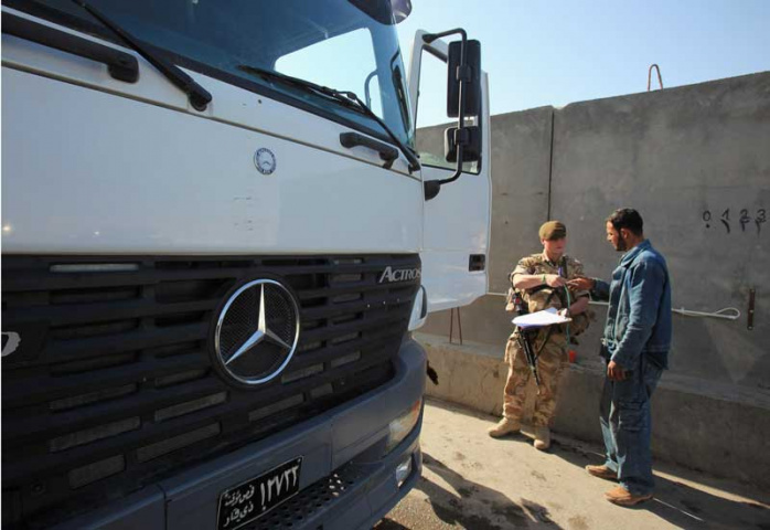 KGL TC provides logistical mission support to military forces operating in Iraq. Courtesy of AFP/Getty.