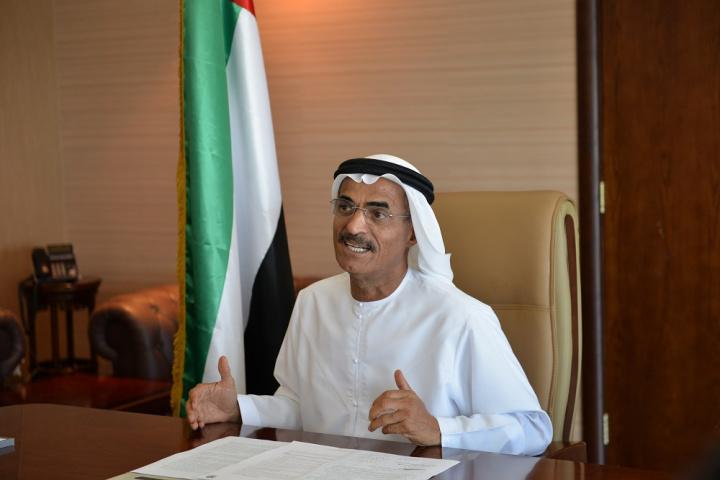 Abdullah Bin Mohammed Balheif Al Nuaimi, minister of Infrastructure Development.