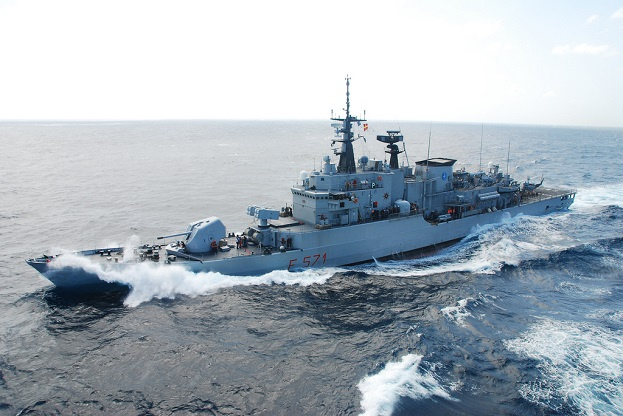 ITS Grecale is an Italian warship that forms part of the EU's counter piracy mission off Somalia