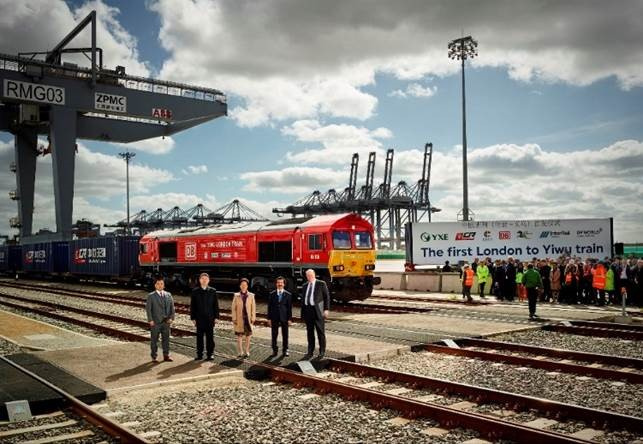 This inaugural export train bound for China departed just under three months after the first ever import train from China arrived in the UK.