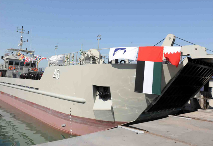 One of the four boats delivered to Bahrain navy.