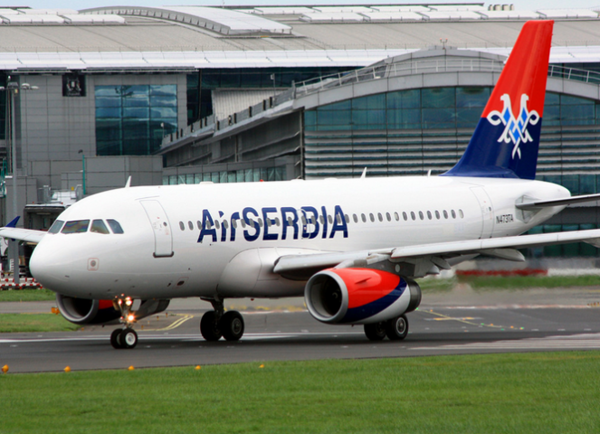 Serbian authorities say the missiles were found on a passenger flight from Lebanon.