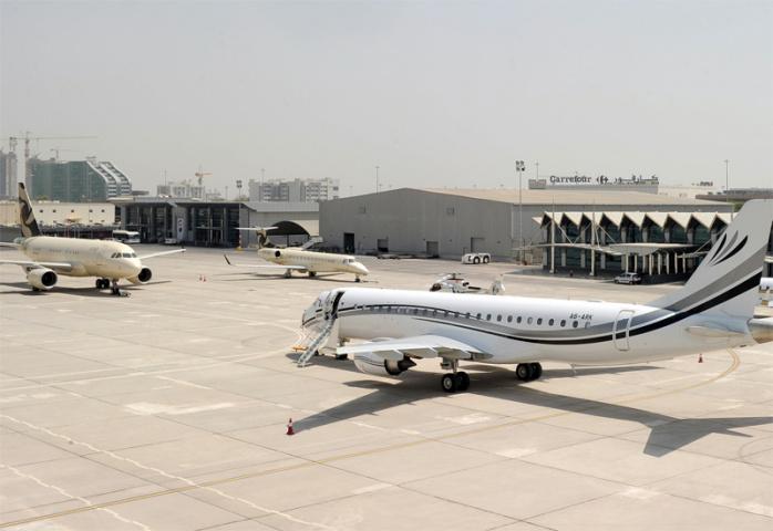 A view of Al Bateen Executive Airport.