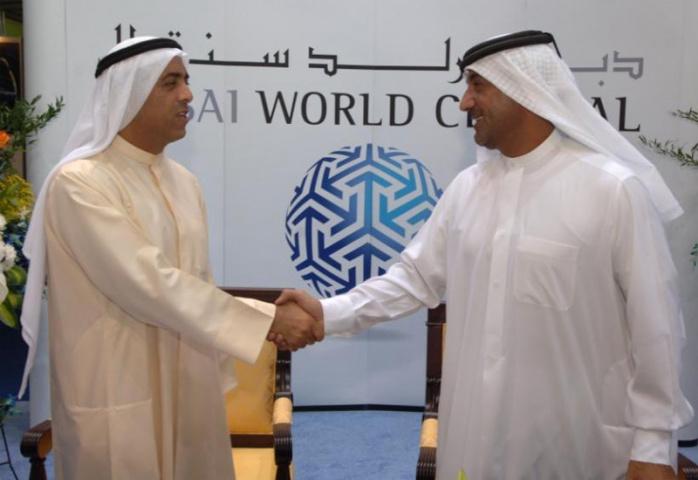 Sheikh Ahmed bin Saeed welcomes Al Futtaim to Dubai World Central.