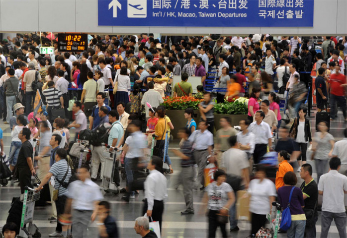 The rise and rise of Beijing's airport continues (AFP/Getty Images).