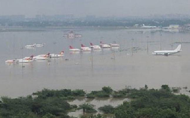 Flights to Chennai from the UAE remain suspended following once in a century flooding, while expats have rallied to provide aid.