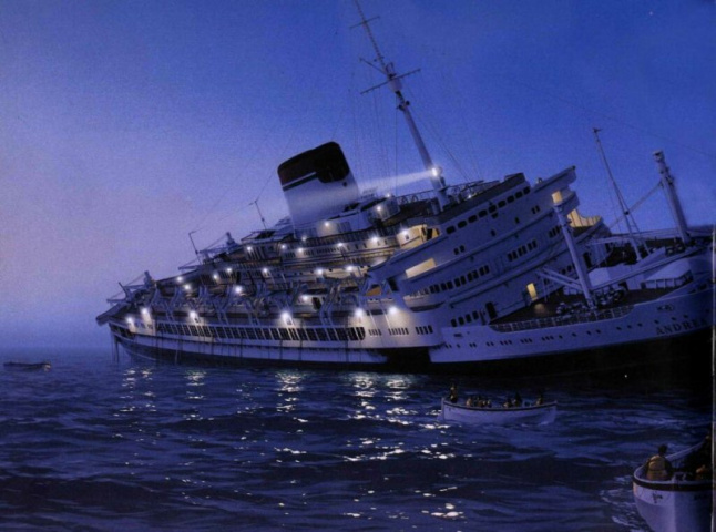 The collision between SS Stockholm and SS Andria Doria remains the most famous in maritime history