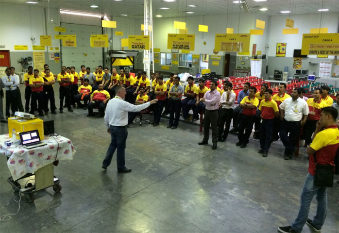 Driver training at DHL Express UAE being carried out by Matrix International Safety Consultants.