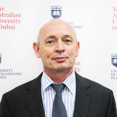 Professor Barry O'Mahony, Dean of Faculty of Business, University of Wollongong Dubai.