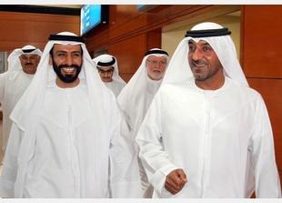 H.H. Sheikh Ahmed Bin Saeed Al Maktoum along with H.E. Sheikh Hamad Bin Tahnoon Al Nahyan