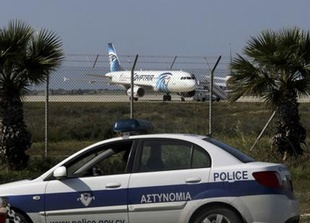 The hijacker of yesterday's Egyptair flight MS181 used a fake suicide belt to take control of the aircraft, forcing it to divert to Cyprus.
