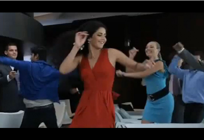 Katrina does her moves in this video for Etihad.