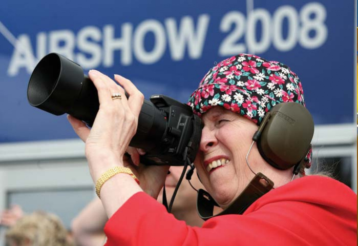 Photographer at Farnborough Air Show