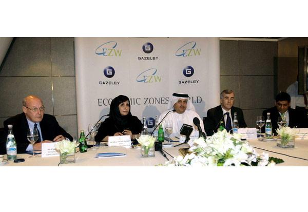 OVERSEAS DEAL: Salma Hareb, CEO of EZW, Jamal Majid bin Thaniah, Group CEO and Pat McGillycuddy, CEO Gazeley