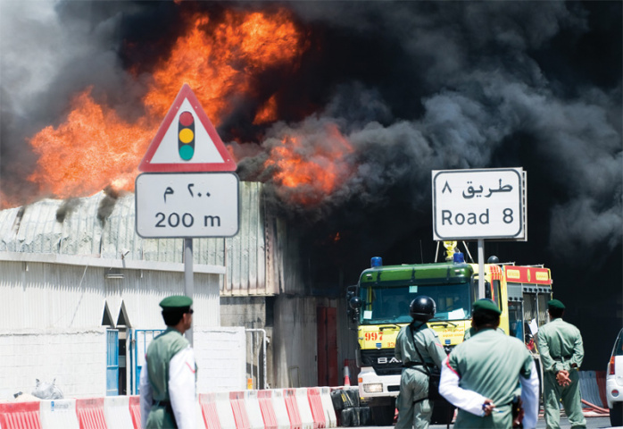 Four men have been injured, two of them severely, after a warehouse explosion in Al Quoz (Picture illustrative).
