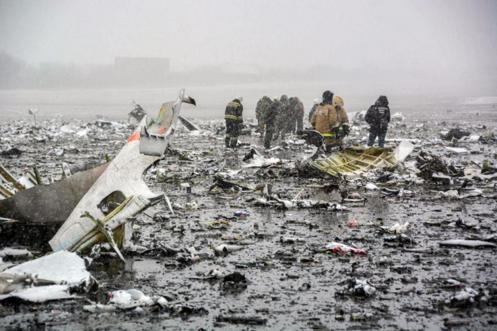 The flydubai Boeing 737 exploded when it crashed 250m short of the runway.