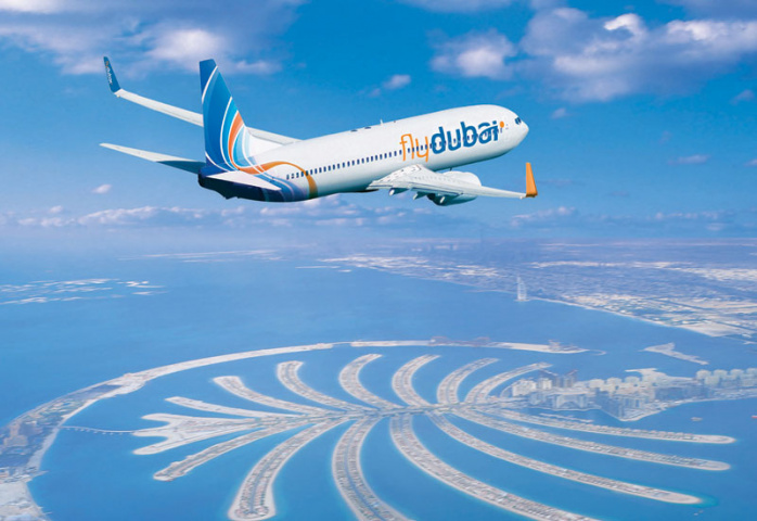 The flight had departed Dubai and was preparing to land in Kiev when the threats were made.