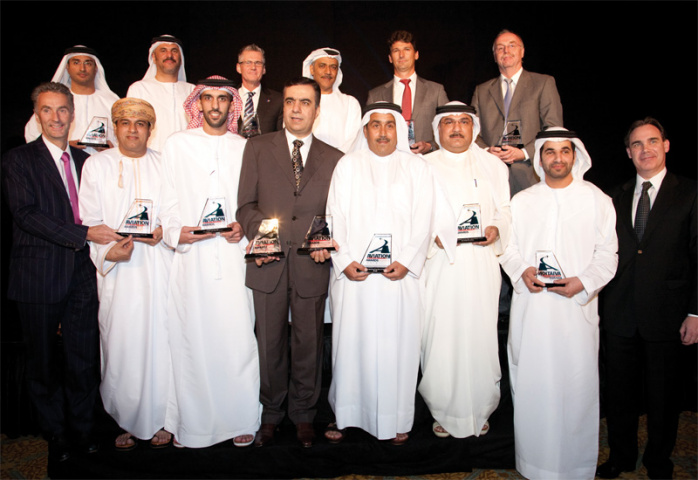 A group shot of this year's award winners.