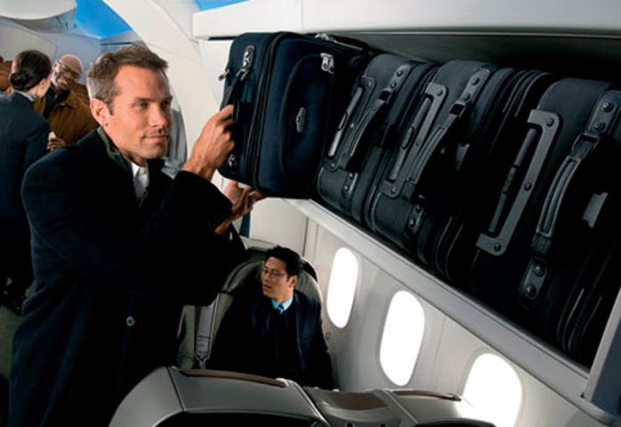 ILLUSION OF SPACE: The 787 Dreamliner is designed and laid out to feel spacious, even down to the overhead luggage bins.