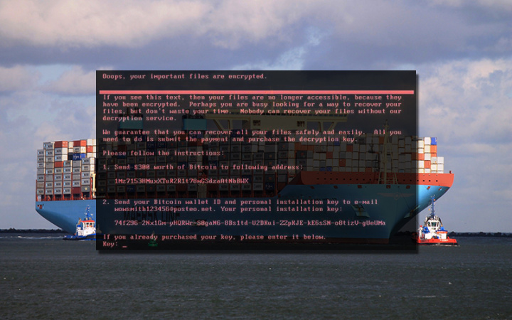 Maersk Line was unable to take bookings globally on Wednesday after a sustained cyber-attack by Petya ransomware.