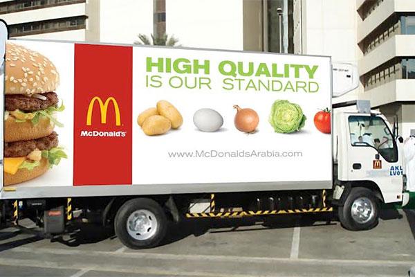 McDonald's UAE's fleet logistics trucks just kilometers from becoming 1st in the world to drive 5-million km on biodiesel.