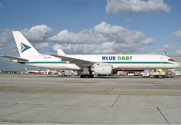 Blue Dart Express plane