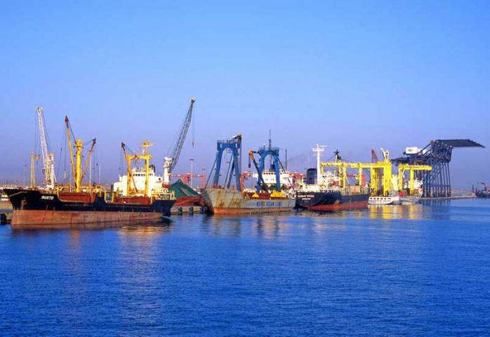 Port of Sohar in Oman.