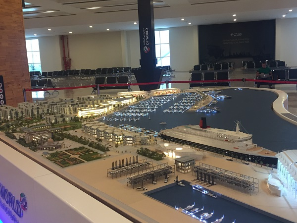 A DP World official has indicated that QE2 will be a centrepiece of the new development as a floating hotel and events venue.