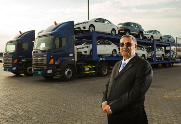 Al-Futtaim Logistics' acting managing director and finance manager, Raman Kumar.