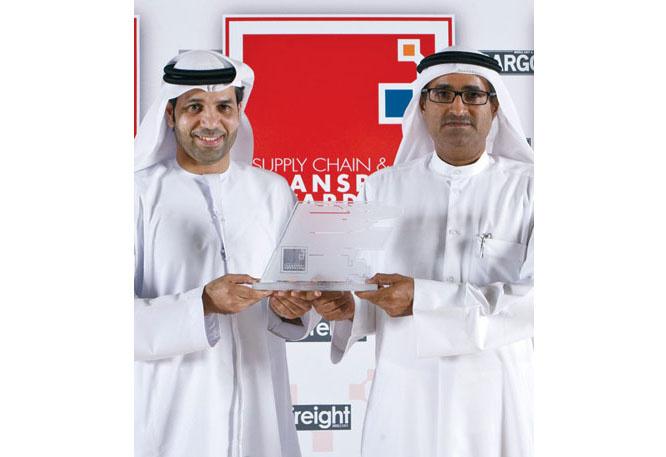 Ali Al Jallaf, vice president of cargo unit, Dubai Cargo Village (right, with Abdulla Bin Kediya, senior general manager, Dubai Cargo Village).