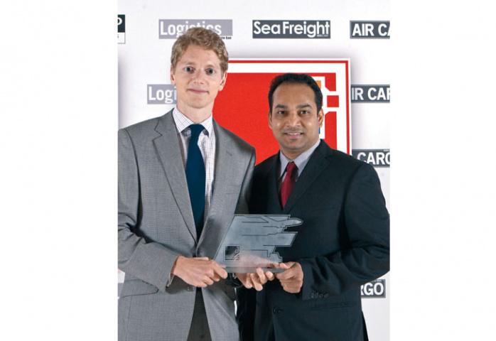 Robert Uggla, managing director, Maersk Line UAE (left, with Joel Rodricks, assistant general manager, Maersk Line UAE).