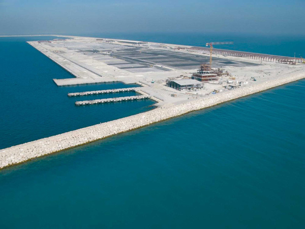 WORK IN PROGRESS: The development of Bahrain?s Khalifa Bin Salman Port will be completed soon and operations at the port, which is billed as a transhi