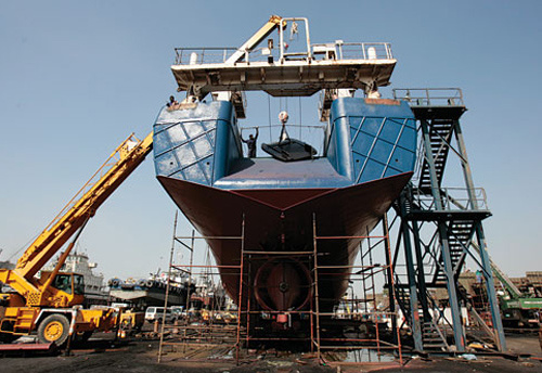HIGH WATER MARK: Islamic financial institutions have found a natural outlet in the growing regional shipbuilding market.