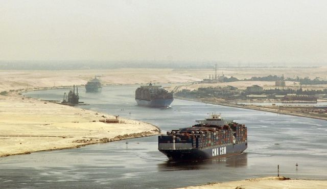 Three cargo ships from US, Denmark and Bahrain successfully transit new Suez Canal ahead of its grand opening in August.