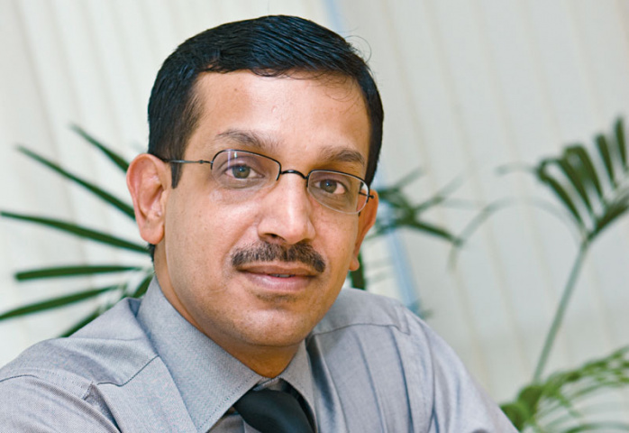 Sumesh Nair, general manager of Globelink West Star Shipping Middle East