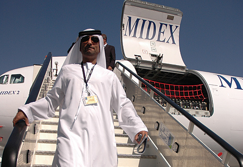 Stairway to success: MIDEX Airlines operates a fleet of six Airbus A200B4-203Fs and one Boeing B747F.