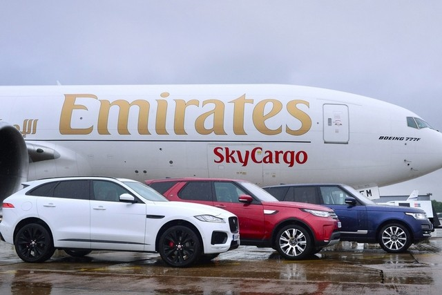 The flight was the first of a series of scheduled deliveries for Emirates SkyWheels after SkyCargo, the freight arm of the Dubai airline, teamed up with the British luxury car maker.
