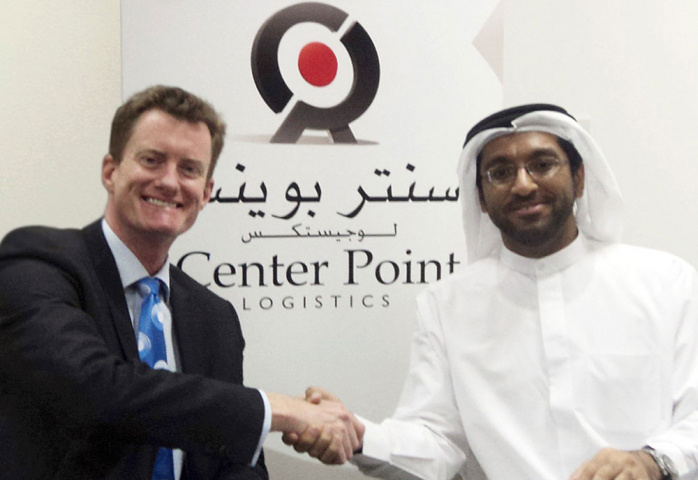 R to L Saleh Saeed Lootah, Chairman, CPL, and John Gould, CEVA?s Managing Director for the Middle East signing the agreement.