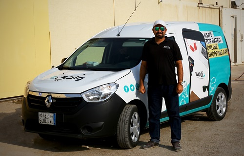 Wadi.com has a fleet of more than 150 delivery vans and drivers.