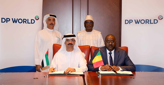 Sultan Ahmed Bin Sulayem, group chairman and CEO, DP World signed the MoU with Ibrahim Boubacar Keita, president of Mali.