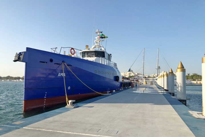 The vessel is fitted with seating for 90 personnel, has a top speed of 25 knots and a range of 1,200 nautical miles.