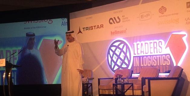 Mahmood Al Bastaki, CEO, Dubai Trade delivers the keynote address at a previous Leaders in Logistics.