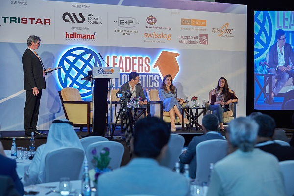Mumzworld.com co-founder and partner Leena Khalil (centre) on the E-commerce Logistics panel at Leaders in Logistics 2017.